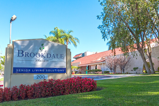 Brookdale Anaheim Entrance
