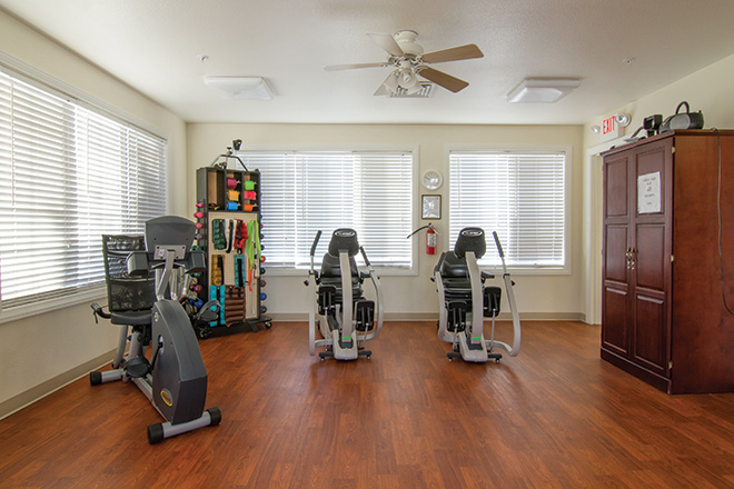 Brookdale Aurora Fitness Room
