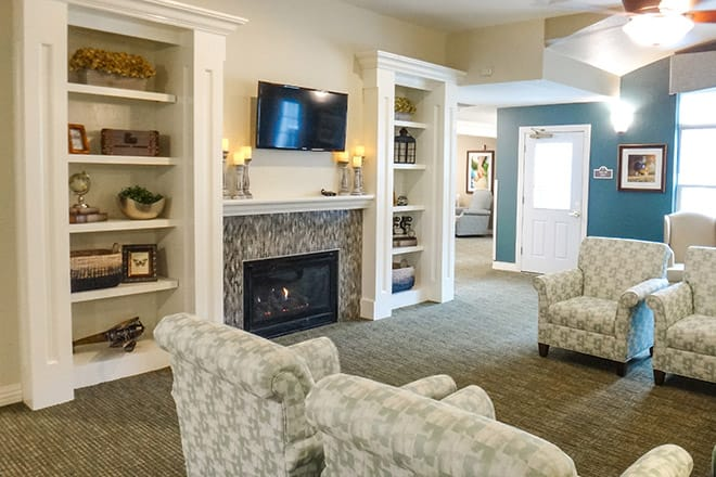 Brookdale Austintown Community Living Room