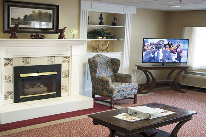 Brookdale Bassett Park Community Living Room