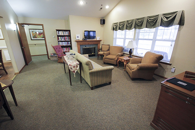 Brookdale Bay City Community Living Room