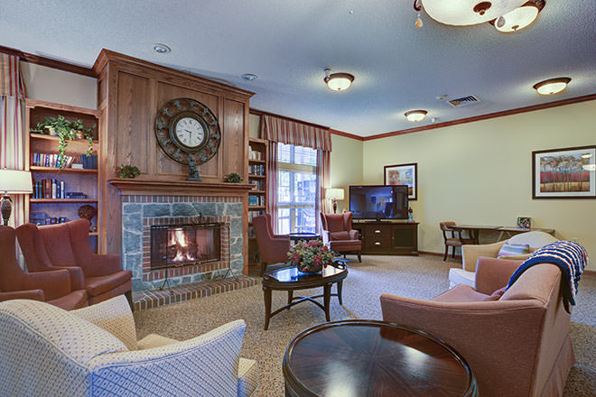 Brookdale Broadmoor Community Living Room