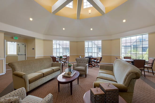 Brookdale Brookhurst Community Living Room