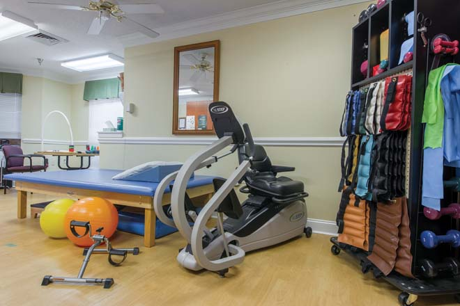 Brookdale Burlington Fitness Room
