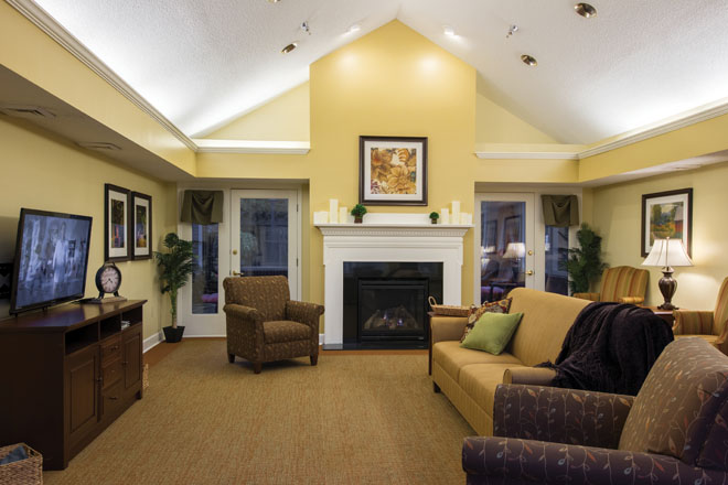 Brookdale Cary Community Living Room