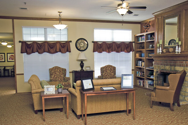Brookdale Centennial Park Community Living Room