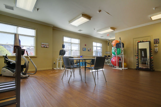 Brookdale Centre of New England Fitness Room