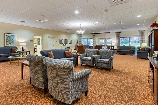 Brookdale Charlotte East Foyer