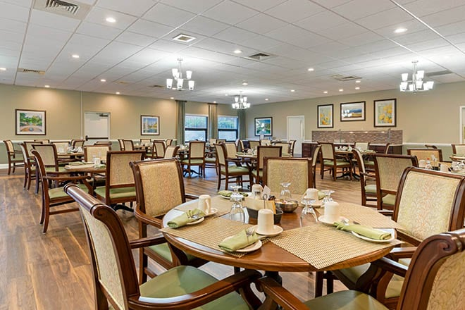 Brookdale Charlotte East Dining Room
