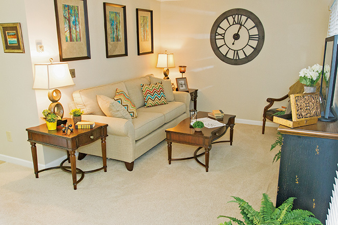 Brookdale Chatfield Independent Living Apartment Living Room
