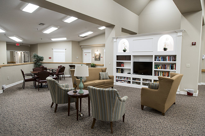 Brookdale Chenal Heights Community Living Room