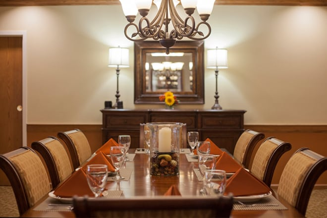 Brookdale Chestnut Hill Private Dining Room