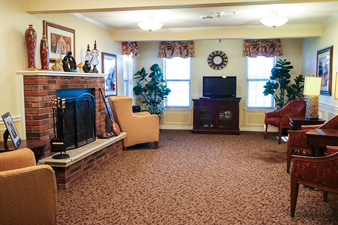 Brookdale Clinton Community Living Room