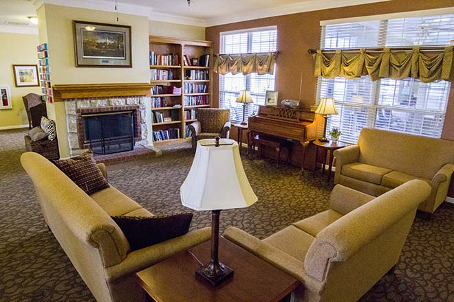 Brookdale Columbia Community Living Room