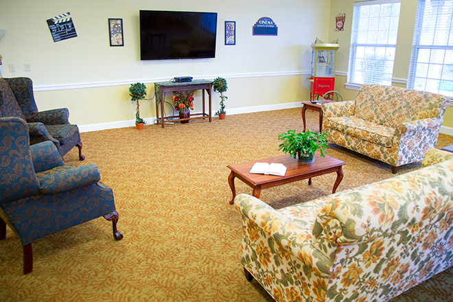Brookdale Danville Piedmont TV Room