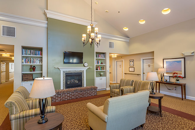 living room photos brookdale dartmouth senior living in 10292