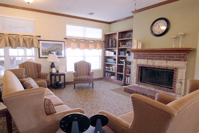Brookdale Durant Community Living Room