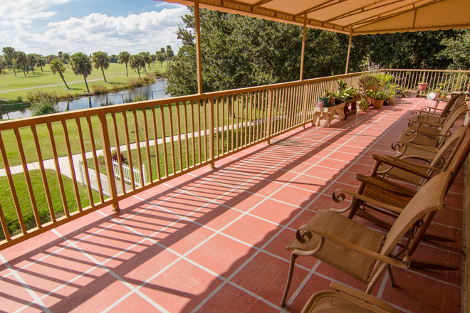 Brookdale Eau Gallie Covered Porch