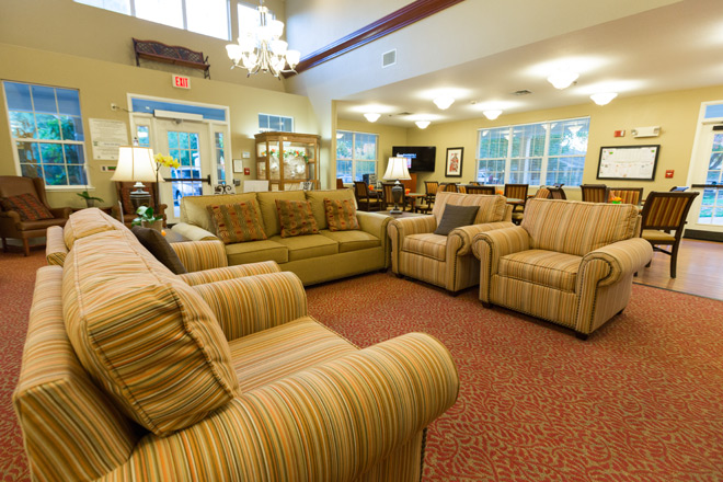 Brookdale Elk Grove Community Living Room
