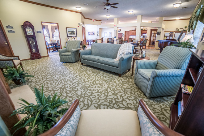 Brookdale Ennis Community Living Room