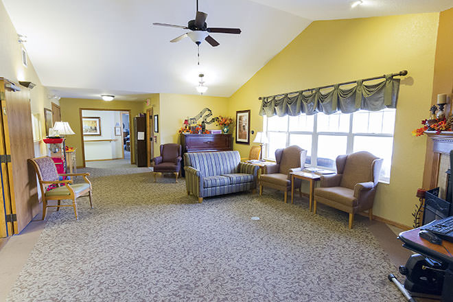 Brookdale Faribault Community Living Room
