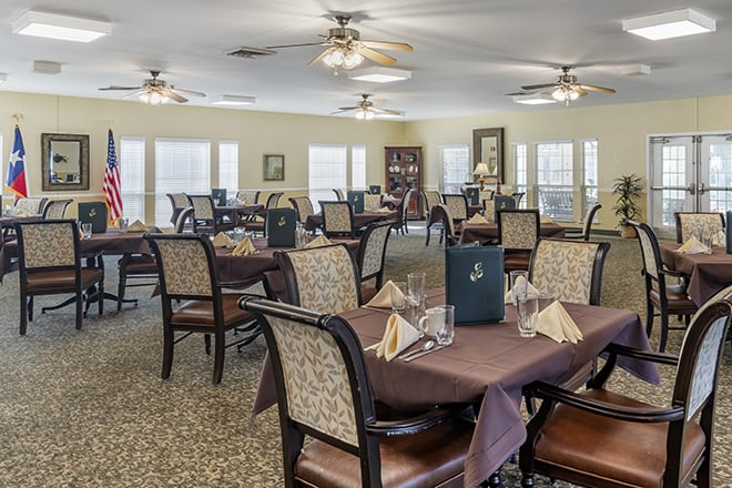 Brookdale Farmers Branch Dining Room