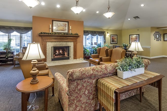 Brookdale Farmington Hills North Community Living Room
