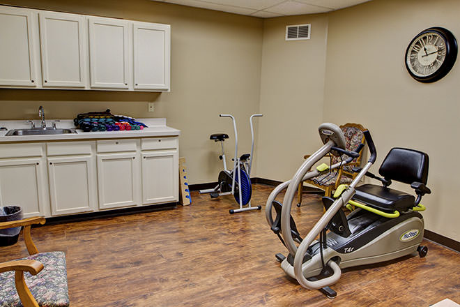 Brookdale Foundation House Fitness Room