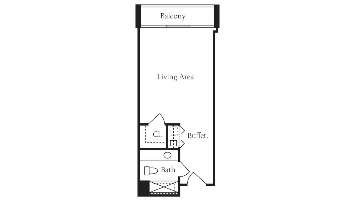 Brookdale Galleria floor plan Assisted Living - Studio