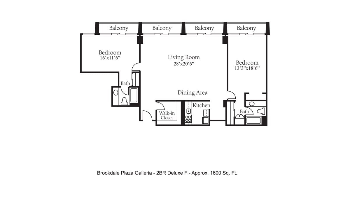 Brookdale Galleria floor plan Independent Living - Two Bedroom Deluxe