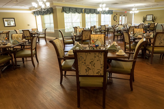Brookdale Greenville Assisted Living Dining Room