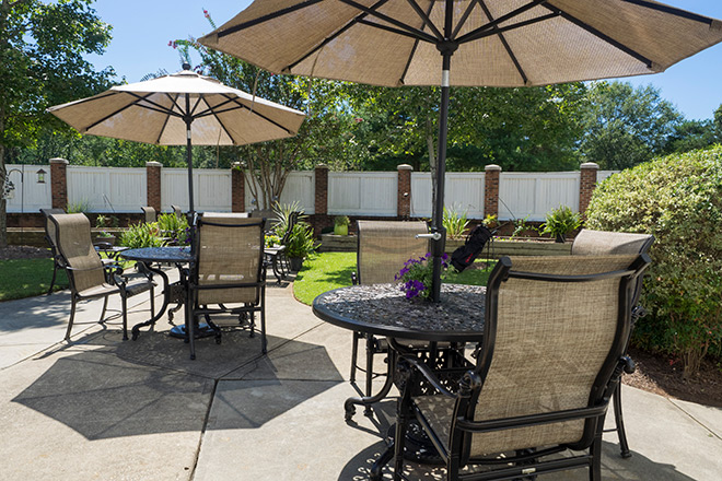 Brookdale Greenville Memory Care Patio