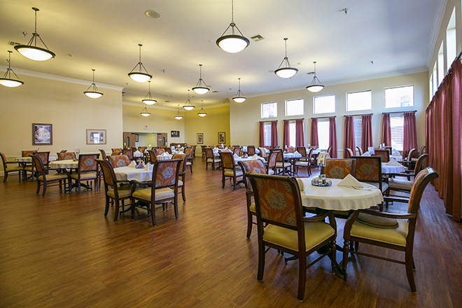 Brookdale Guadalupe River Plaza Skilled Nursing Dining Room