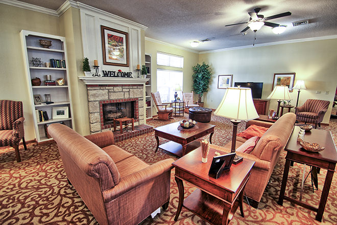 Brookdale Harbison Community Living Room