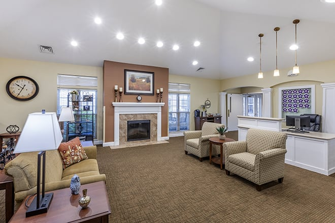 Brookdale Kenosha  Community Living Room