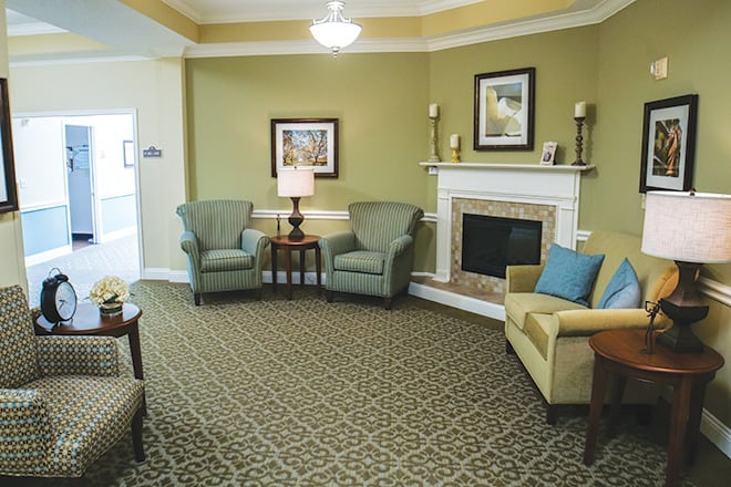 Brookdale Lake Charles Community Living Room