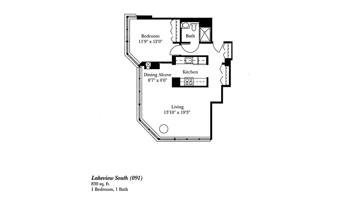Brookdale Lake Shore Drive Floor Plan Lakeview South