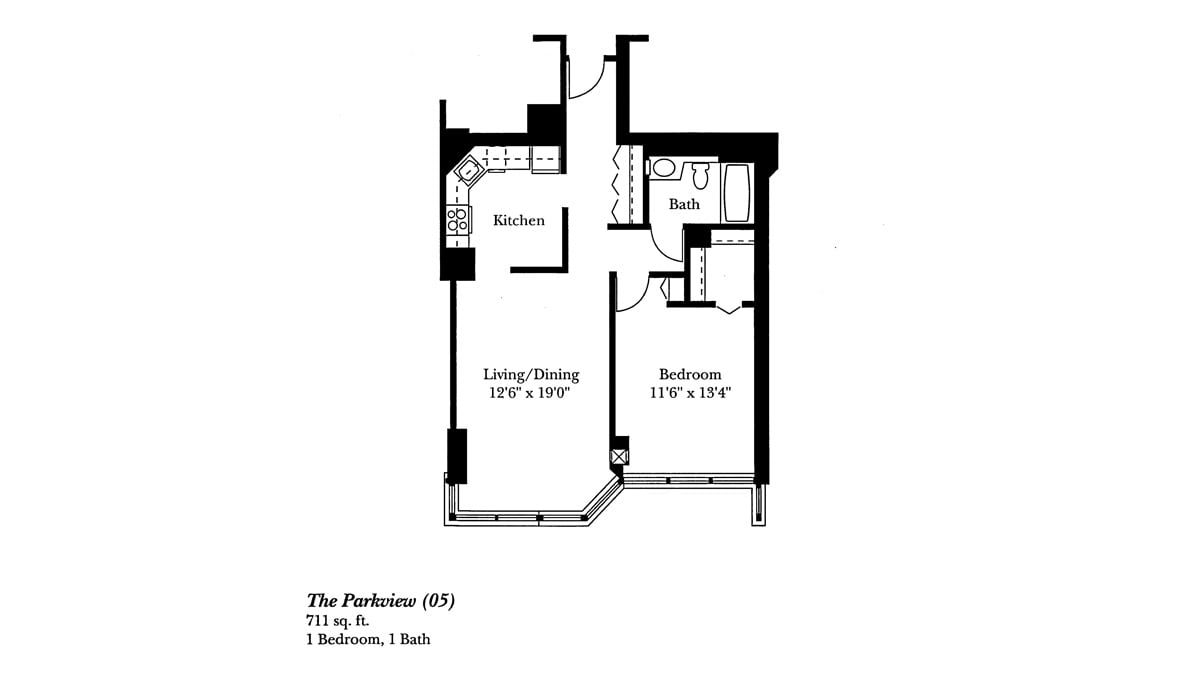 Brookdale Lake Shore Drive Floor Plan Parkview