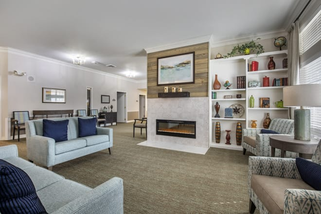 Brookdale Lakeshore Community Living Room