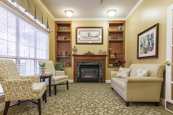 Brookdale Lexington Community Living Room