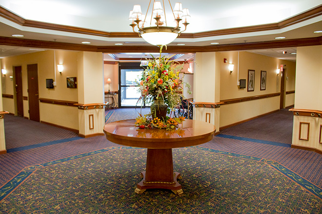 Brookdale Lisle Skilled Nursing Foyer