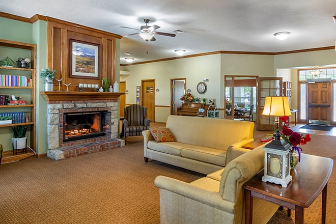 Brookdale Longmont Community Living Room