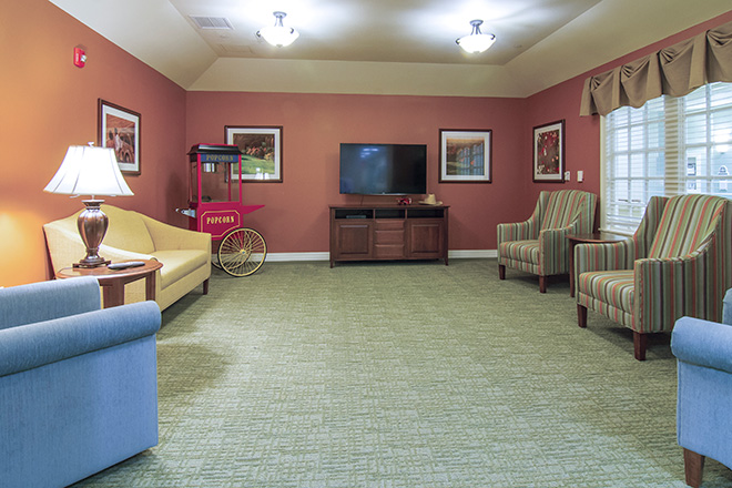 Brookdale Mariana Butte TV Room