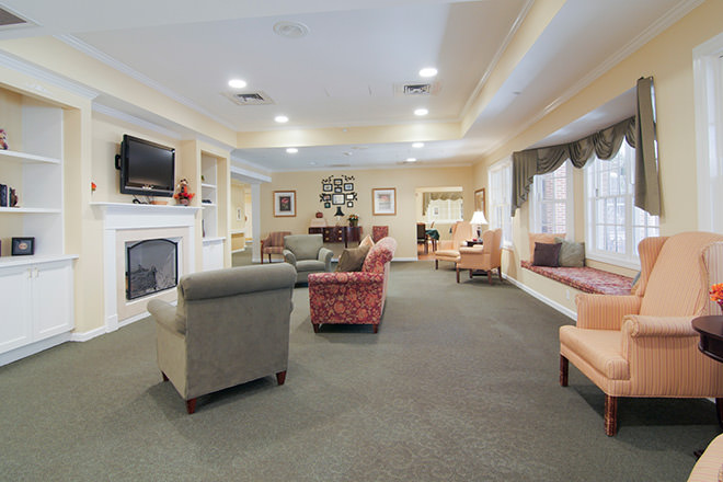 Brookdale Midlothian Community Living Room
