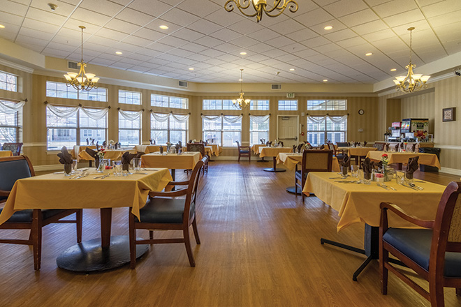Brookdale Mountain View Skilled Nursing Dining Room