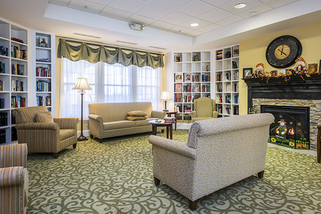 Brookdale Niskayuna Community Living Room
