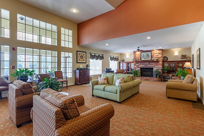 Brookdale North Richland Hills Community Living Room