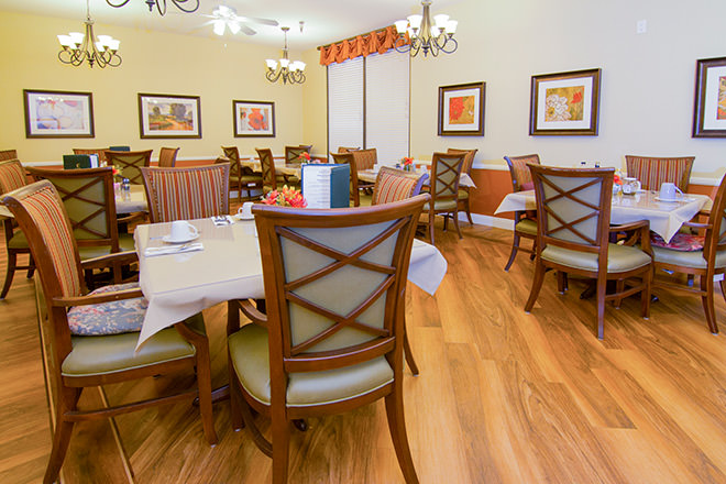 Brookdale North Tarzana Dining Room