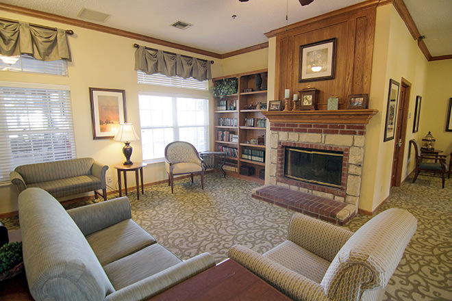 Brookdale Owasso Community Living Room