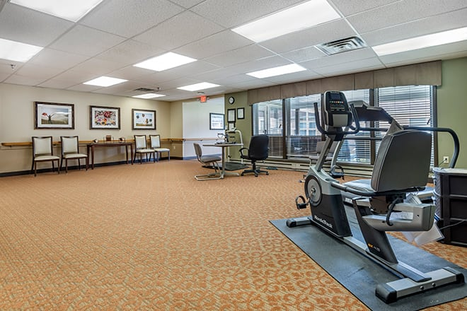 Brookdale Painted Post Exercise Room